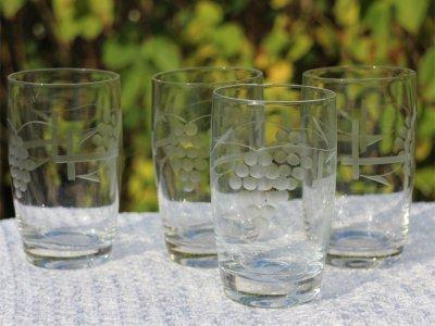 glas med slibninger